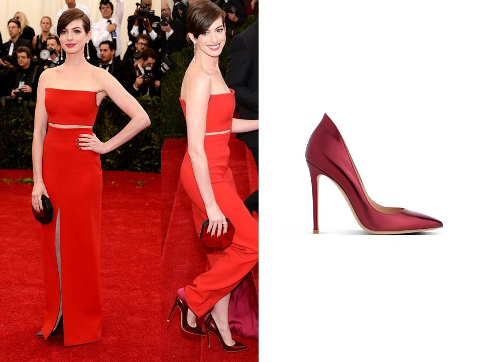 Anne Hathaway MET BALL 2014 Double