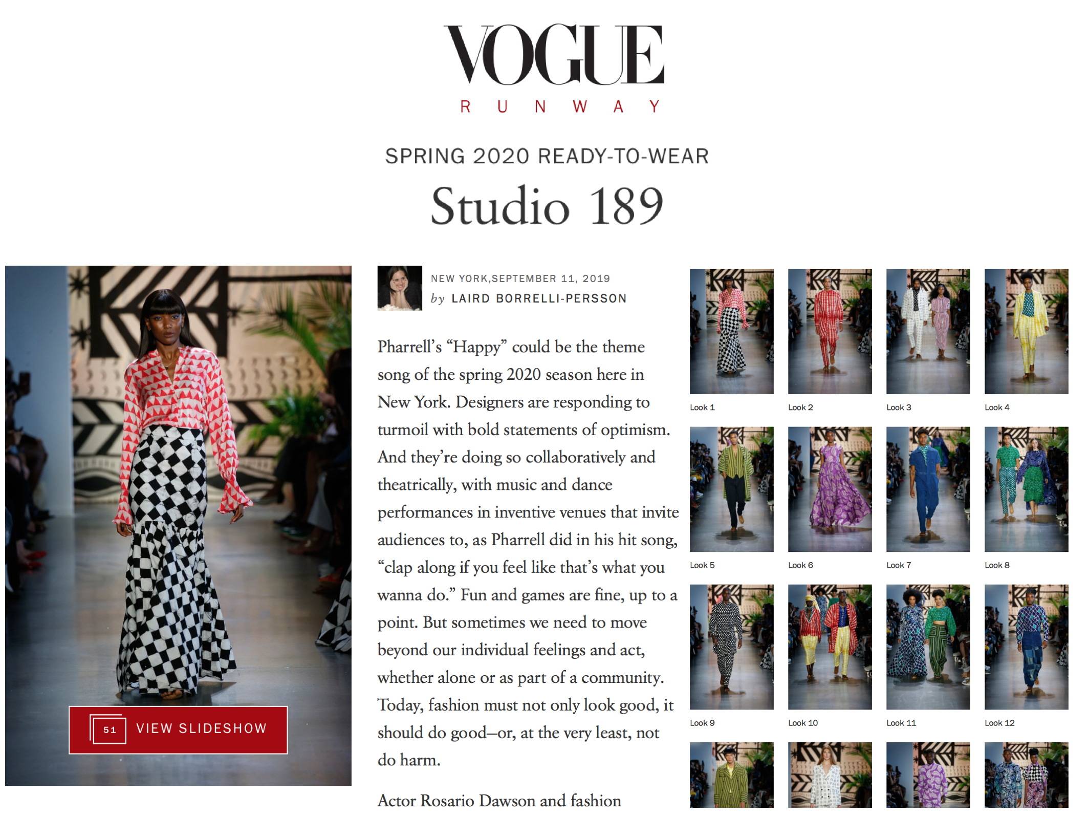Studio189 Vogue Runway
